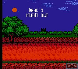 Title screen of the game Drac's Night Out on Nintendo NES