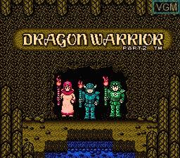 Title screen of the game Dragon Warrior II on Nintendo NES