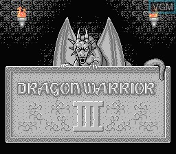 Title screen of the game Dragon Warrior III on Nintendo NES