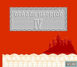 Title screen of the game Dragon Warrior IV on Nintendo NES