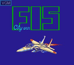 Title screen of the game F-15 City War on Nintendo NES
