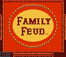 Title screen of the game Family Feud on Nintendo NES