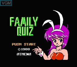 Title screen of the game Family Quiz - 4-nin wa Rival on Nintendo NES