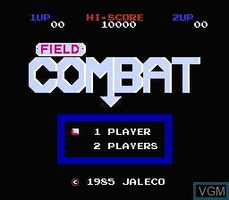 Title screen of the game Field Combat on Nintendo NES