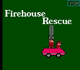 Title screen of the game Firehouse Rescue on Nintendo NES