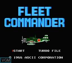 Title screen of the game Fleet Commander on Nintendo NES
