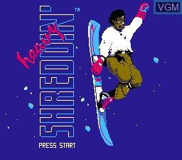 Title screen of the game Heavy Shreddin' on Nintendo NES