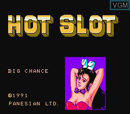Title screen of the game Hot Slot on Nintendo NES
