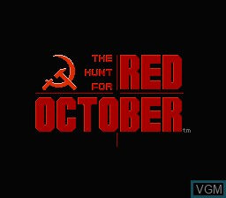 Title screen of the game Hunt for Red October, The on Nintendo NES