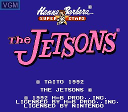 Title screen of the game Jetsons, The - Cogswell's Caper! on Nintendo NES