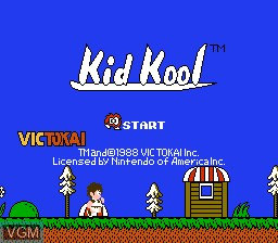 Title screen of the game Kid Kool and the Quest for the 7 Wonder Herbs on Nintendo NES