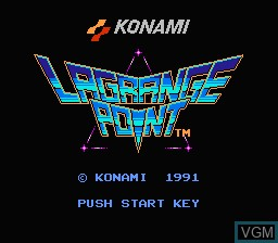 Title screen of the game Lagrange Point on Nintendo NES