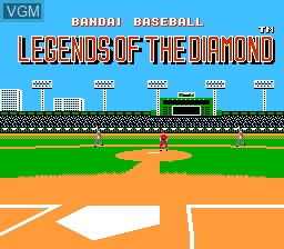 Title screen of the game Legends of the Diamond - The Baseball Championship Game on Nintendo NES