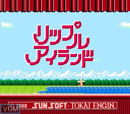 Title screen of the game Ripple Island on Nintendo NES
