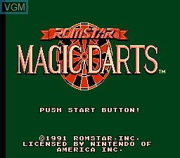Title screen of the game Magic Darts on Nintendo NES