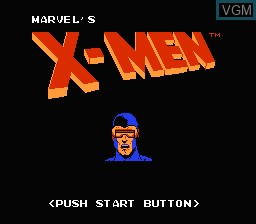 Title screen of the game Uncanny X-Men, The on Nintendo NES
