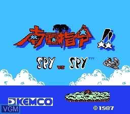 Title screen of the game Nangoku Shirei!! - Spy vs Spy on Nintendo NES