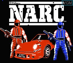 Title screen of the game NARC on Nintendo NES