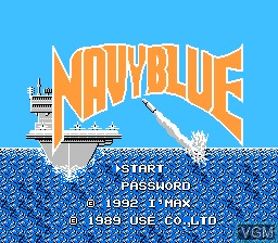 Title screen of the game Navy Blue on Nintendo NES