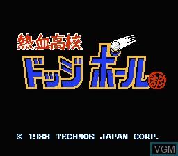 Title screen of the game Nekketsu Koukou Dodgeball Bu on Nintendo NES