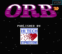 Title screen of the game Orb 3D on Nintendo NES