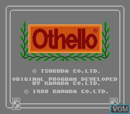 Title screen of the game Othello on Nintendo NES