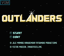 Title screen of the game Outlanders on Nintendo NES