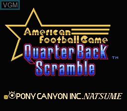 Title screen of the game Quarter Back Scramble on Nintendo NES