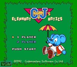 Title screen of the game Quattro Arcade on Nintendo NES