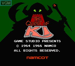 Title screen of the game Quest of Ki, The on Nintendo NES