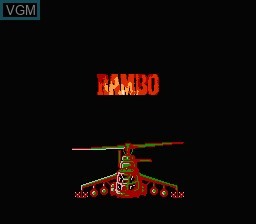Title screen of the game Rambo - First Blood Part II on Nintendo NES