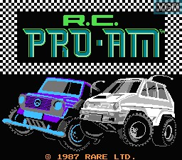 Title screen of the game R.C. Pro-Am on Nintendo NES