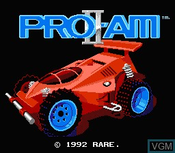 Title screen of the game R.C. Pro-Am II on Nintendo NES