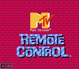 Title screen of the game Remote Control on Nintendo NES