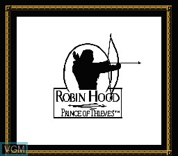 Title screen of the game Robin Hood - Prince of Thieves on Nintendo NES