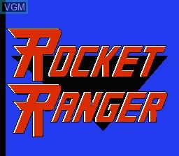 Title screen of the game Rocket Ranger on Nintendo NES