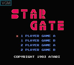 Title screen of the game Star Gate on Nintendo NES