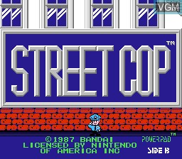 Title screen of the game Street Cop on Nintendo NES