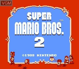 Title screen of the game Super Mario Bros. 2 on Nintendo NES