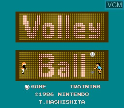 Title screen of the game Volleyball on Nintendo NES
