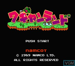 Title screen of the game Wagyan Land on Nintendo NES