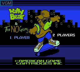 Title screen of the game Wally Bear & the No Gang on Nintendo NES