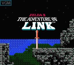 Title screen of the game Zelda II - The Adventure of Link on Nintendo NES