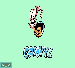 Menu screen of the game EarthWorm Jim 2 on Nintendo NES