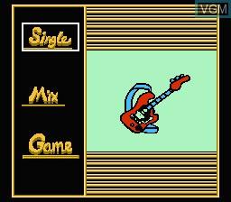 Menu screen of the game Hot Dance 2000 on Nintendo NES