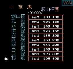 Menu screen of the game Yanshan Chess on Nintendo NES