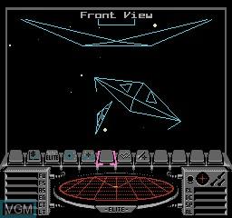 Menu screen of the game Elite on Nintendo NES