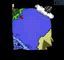 Menu screen of the game Q Boy on Nintendo NES