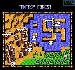 Menu screen of the game Rockball on Nintendo NES