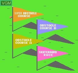 Menu screen of the game Super Team Games on Nintendo NES